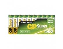 Alkalická baterie GP Super AAA (LR03) - 10ks