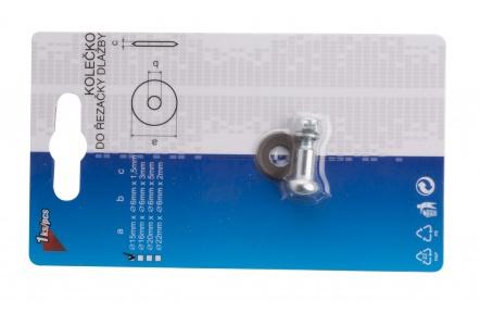 Kolečko řezné náhradní 16x6x3mm