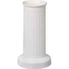 Váza hřbitovní rovná bílá - těžké dno