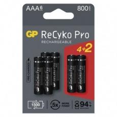Nabíjecí baterie GP ReCyko Pro Professional AAA (HR03) - 6ks