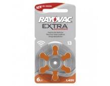 Baterie do naslouchadel RAYOVAC H13MF, blistr - 6ks