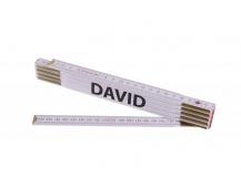 Skládací 2m DAVID (PROFI, bílý, dřevo)