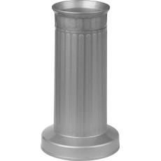 Váza hřbitovní rovná stříbrná - těžké dno
