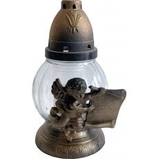 Svíčka sklo lampa - 60 g anděl