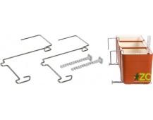 Držák na truhlík balkon - kovový Berberis (2 ks)