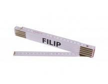 Skládací 2m FILIP (PROFI, bílý, dřevo)