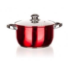 BANQUET Hrnec nerezový MAESTRO Red 22 cm, 4,3 l, s poklicí