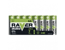 Alkalická baterie RAVER AA (LR6) - 8ks