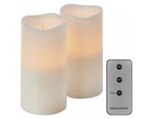 LED dekorace – 2× svíčka, 2× 3×AAA, ovladač, časovač