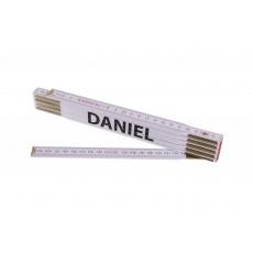 Metr skládací 2m DANIEL (PROFI, bílý, dřevo)
