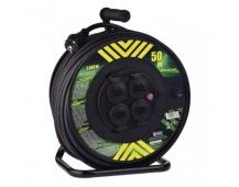 Gumový prodlužovací kabel na bubnu – 4 zásuvky, 50m, 2,5mm2