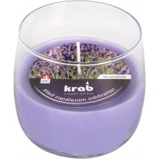 Svíčka sklo - aroma levandule 125 g