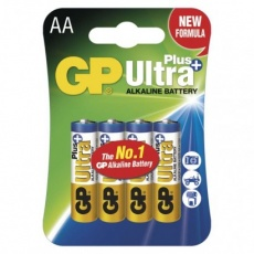 Alkalická baterie GP Ultra Plus AA (LR6) - 4ks