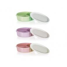 BANQUET Dóza plastová dělená s víkem CANDY 20 x 5,5 cm, mix barev