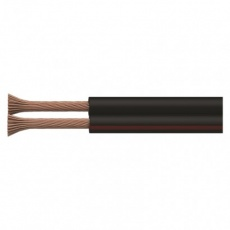 Dvojlinka nestíněná 2x1,5mm černo-rudá, 100m - 100m