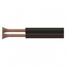 Dvojlinka nestíněná 2x0,75mm černo/rudá, 100m - 100m