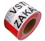 Varovací páska 80mm x 250M ZÁKAZ VSTUPU