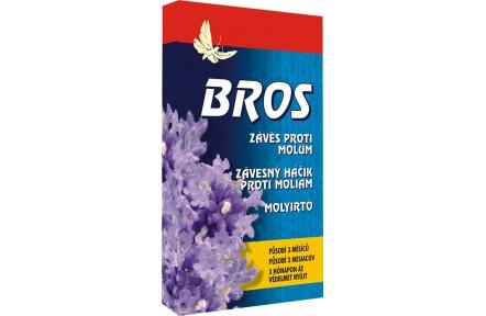 Bros - závěsný háček proti šatním molům s vůní levandule