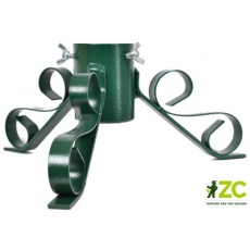 Stojánek vánoční kovový - zelený 64 mm