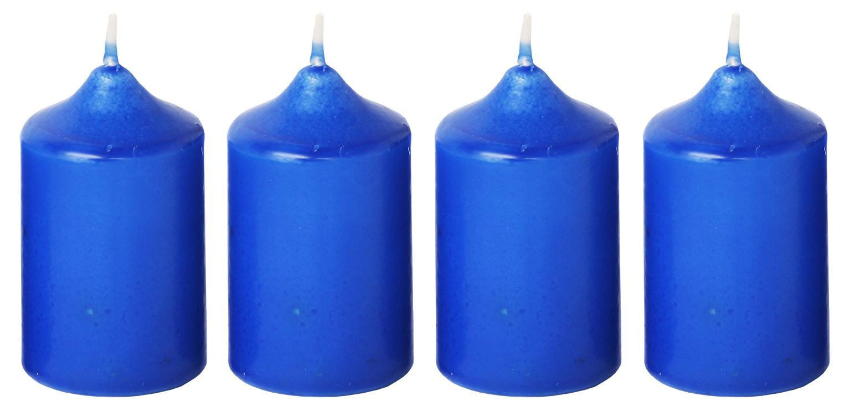 Svíčka adventní 40x60 mm - modrá (4ks)