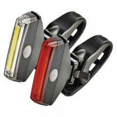 LED přední + zadní svítilna na kolo P3922 na 2× CR2032,22 lm