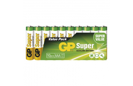 Alkalická baterie GP Super LR03 (AAA) - 10ks