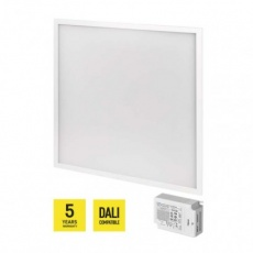LED panel DALI 60×60, čtvercový vestavný bílý, 40W n. b. UGR