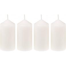 Svíčka adventní 40x75 mm - bílá (4ks)