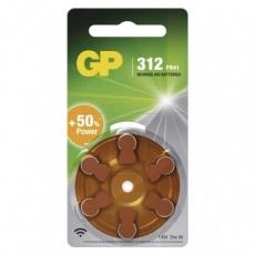 Baterie do naslouchadel GP ZA312 (PR41) - 6ks