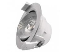 LED bodové svítidlo stříbrné, kruh 7W teplá bílá