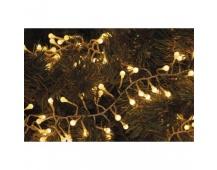 LED vánoční řetěz – ježek, 2,4m, venkovní, teplá bílá, čas.