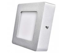 LED panel 120×120, čtvercový přisazený stříbrný, 6W neutr.b.