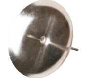 Bodec na svíčku - střední stříbrný