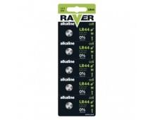 Alkalická knoflíková baterie RAVER A76F (LR44) - 5ks