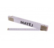 Skládací 2m MATĚJ (PROFI, bílý, dřevo)