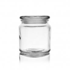 Dóza sklo s víkem 0,58l kulatá