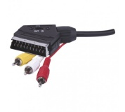 AV kabel SCART - 3x CINCH 1,5m