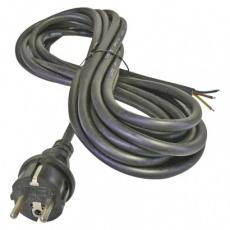Flexo šňůra gumová 3× 1mm2, 5m, černá