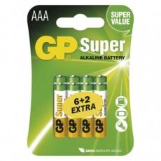 Alkalická baterie GP Super AAA (LR03) - 8ks
