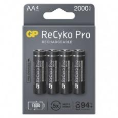 Nabíjecí baterie GP ReCyko Pro Professional AA (HR6) - 4ks