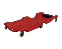 Plastové lehátko pojízdné, 6koleček, red