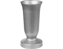 Váza hřbitovní kalich stříbrná - těžké dno