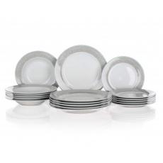 BANQUET Sada talířů SHADOW, 18 ks