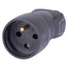 Gumová zásuvka černá IP40 - 10ks