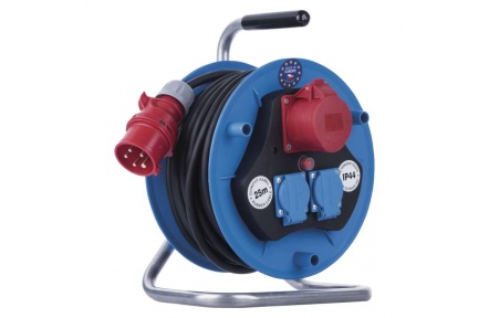 Gumový prodlužovací kabel na bubnu – 3 zásuvky, 25m, 1,5mm2