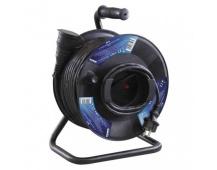 Gumový prodlužovací kabel na bubnu – spojka, 50m, 1,5mm2