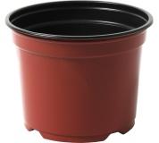 Kontejner Desch 12 cm - terakota / černý