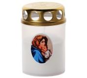 Svíčka Vatikánka malá s víčkem obtisk 85 g