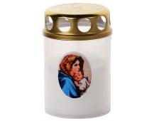 Svíčka Vatikánka malá s víčkem obtisk 90 g