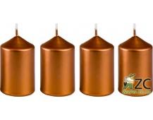 Svíčka adventní 40x60 mm - metalická bronz (4ks)